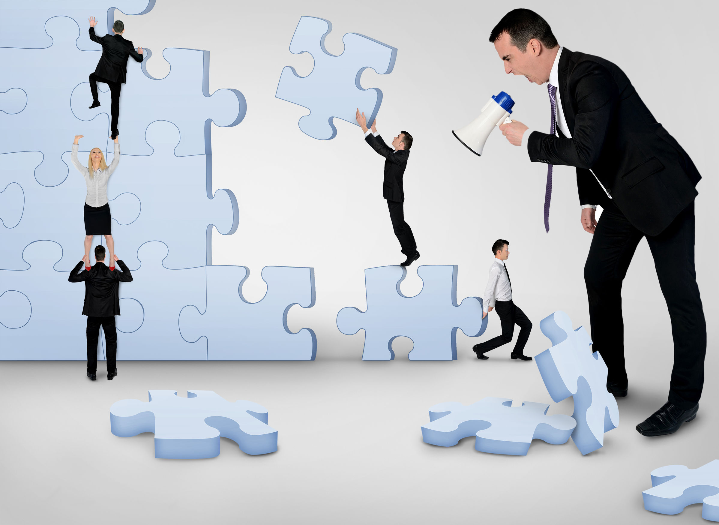 41654967 - business team building puzzle pieces together