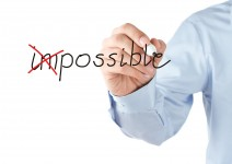 11764142 - motivation concept, transforming word impossible into possible